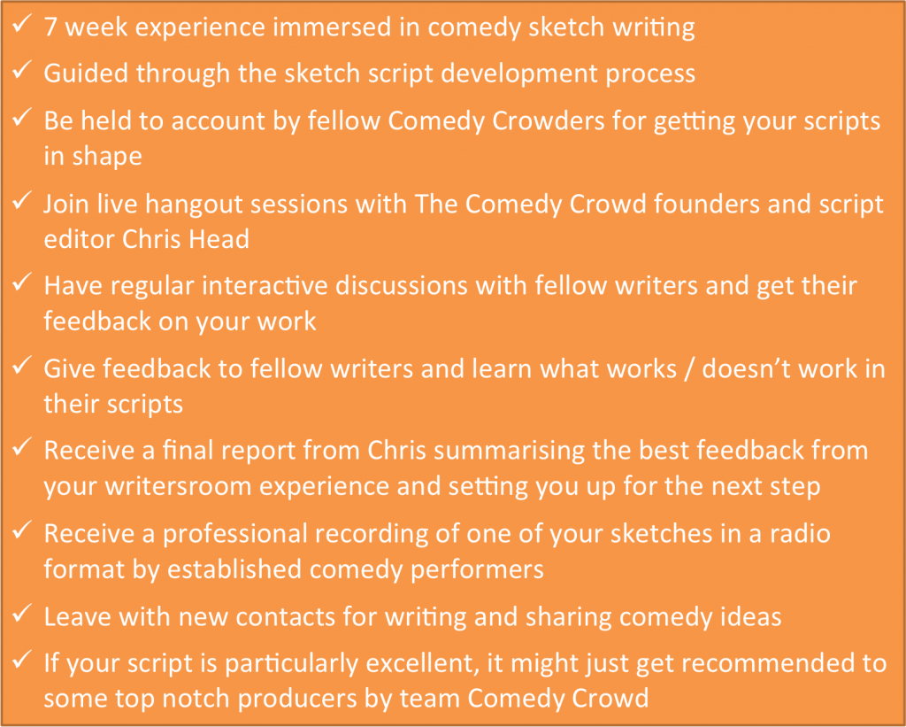 writing sketch comedy